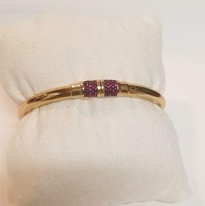 Michael Kors Park Avenue Bangle Bracelet Pink/Gold